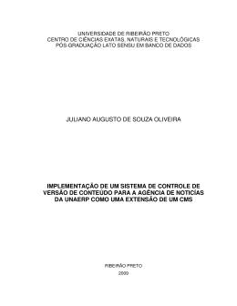 juliano augusto de souza oliveira implementação de um sistema