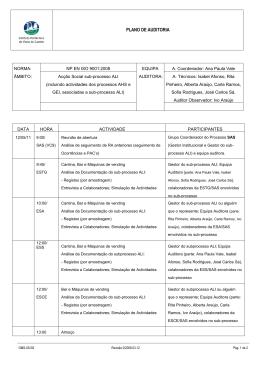 PLANO DE AUDITORIA - SGQ-IPVC