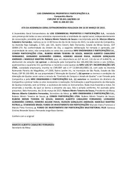 16/03/2015 Ata da Assembleia Geral Extraordinária