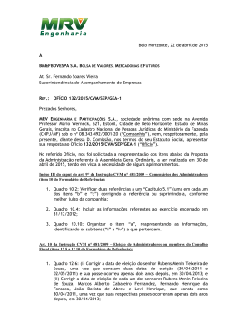 Rio de Janeiro, - MRV Engenharia - Relacionamento com Investidores
