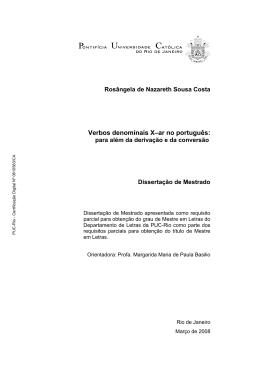 Verbos denominais X–ar no português: - Maxwell - PUC-Rio