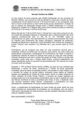 poder judiciário tribunal regional do trabalho – 3ª região