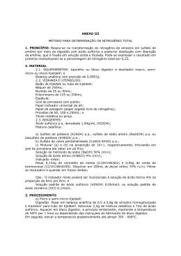 ANEXO III MÉTODO PARA DETERMINAÇÃO DE NITROGÊNIO