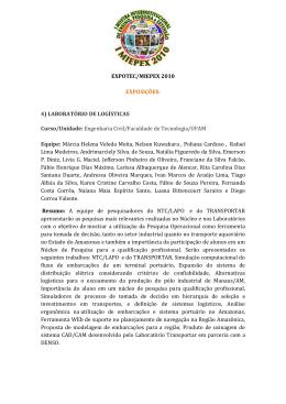 LABORATÓRIO DE LOGÍSTICAS