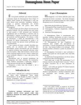 Hemangioma News Paper - Edição 1