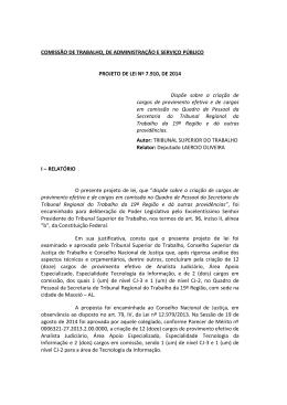 COMISSÃO DE TRABALHO, DE ADMINISTRAÇÃO E SERVIÇO