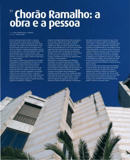 Escrever sobre Raul Chorão Ramalho e a sua obra é