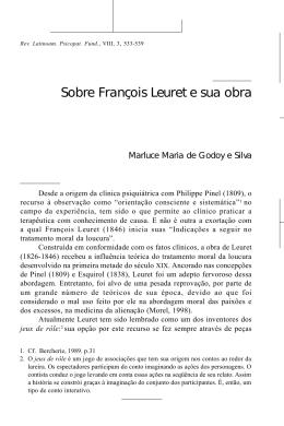 5 Sobre François Leuret e sua obra