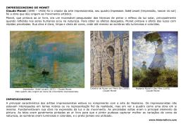 O Impressionismo em Claude Monet