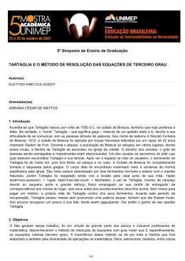 tartáglia e o método de resolução das equações de
