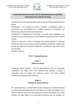 Acordo ibero-americano sobre o uso da videoconferência na