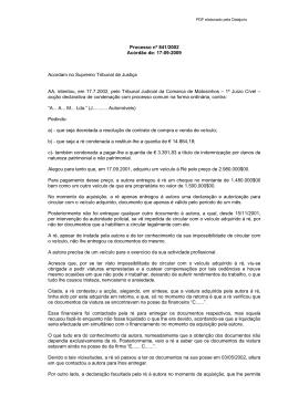 Acórdão do STJ - Base de Dados Jurídicos da DATAJURIS