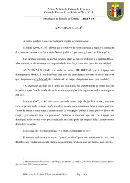 3013 Introdução ao Estudo do Direito – Aula 3 a