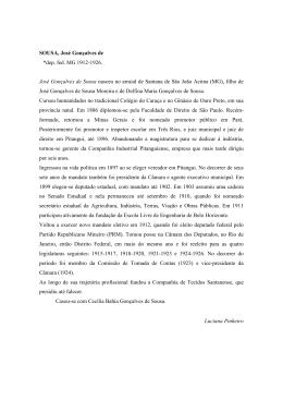 SOUSA, José Gonçalves de *dep. fed. MG 1912
