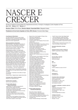 1 Vol XVIII 2009 - Revista Nascer e Crescer