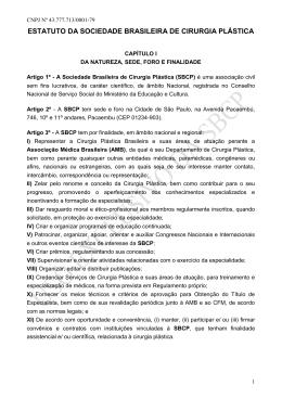 ESTATUTO DA SOCIEDADE BRASILEIRA DE CIRURGIA PLÁSTICA