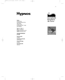 I Consenso Brasileiro de Insônia 3 Hypnos Revista de