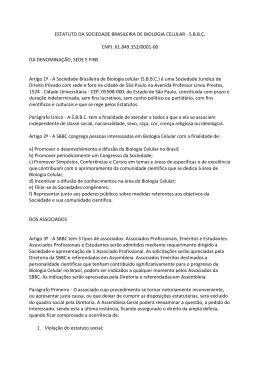 ESTATUTO DA SOCIEDADE BRASILEIRA DE BIOLOGIA CELULAR