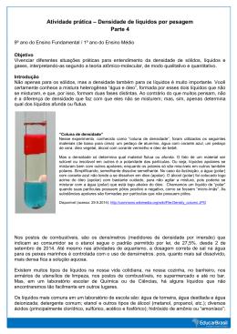 Atividade prática – Densidade de líquidos por pesagem Parte 4