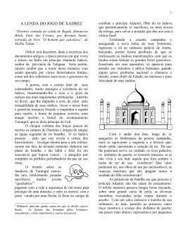 A LENDA DO JOGO DE XADREZ
