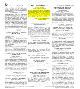 ISSN 1677-7069 - Conselho Regional de Enfermagem de Sergipe