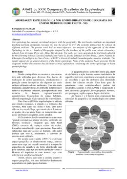 abordagem espeleológica nos livros didáticos de geografia do