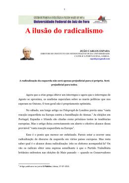 A ilusão do radicalismo1