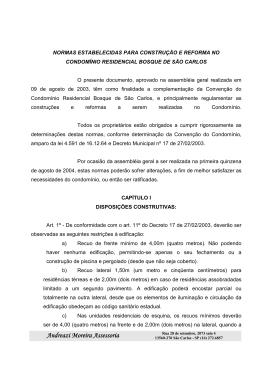 Normas para Construção Bosque de São Carlos