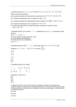 Page 1 professordanilo.com 1. (Mackenzie 2014) Se A x | x é ímpar