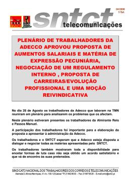 PLENÁRIO DE TRABALHADORES DA ADECCO