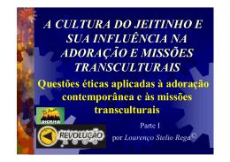 Texto 1 - Web-site de Lourenço Stelio Rega