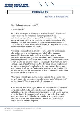 Informativo 06 - Esclarecimento Sobre o AFR