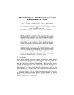 Aplicativo Integrado a um Sistema CAD para Geração do Modelo