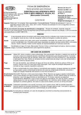 Curzate® BR - Ficha de Emergência