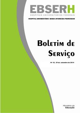 Boletim de Serviço Nº 18 - de 29/09/2014