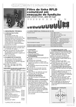 Filtro de linha RFLD comutável em execução de fundição