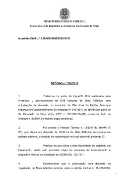 Decisão nº 200-2013 (prorrogação IC)