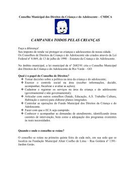 Conselho Municipal dos Direitos da Criana e do Adolescente