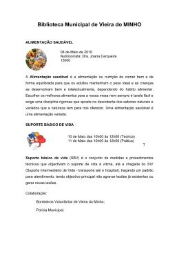 Actividades da Biblioteca - Câmara Municipal de Vieira do Minho