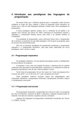 4 Introdução aos paradigmas das linguagens de programação