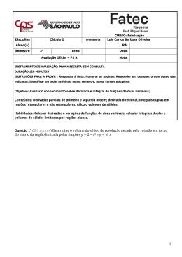 1 Questão 1 - Prof. Ms. Luis Carlos Barbosa de Oliveira