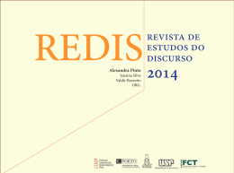 REDIS : Revista de Estudos do Discurso