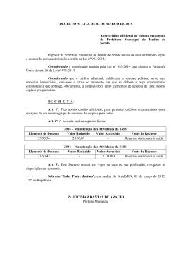 Imagem DECRETO Nº 1.172, DE 02 DE MARÇO DE 2015