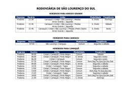 RODOVIÁRIA DE SÃO LOURENÇO DO SUL
