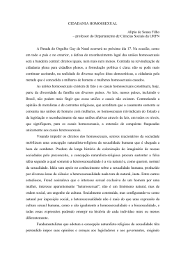 CIDADANIA HOMOSSEXUAL Alípio de Sousa Filho