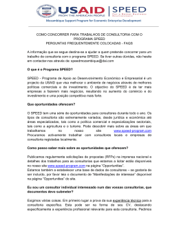 Procurement FAQs Portugues - Support Program for Economic and