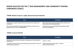 papers selected for the 1 risk management and commodity trading