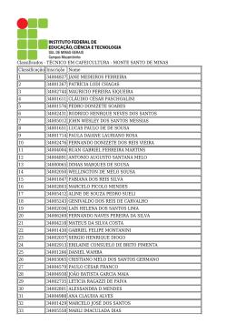 Resultado Técnico em Cafeicultura - Monte Santo de