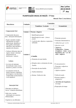 7º Ano - Agrupamento de Escolas Luís de Camões