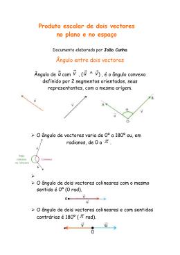 Produto escalar de dois vectores no plano e no espaço